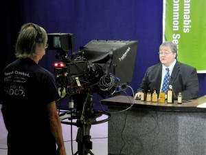 Paul Stanford shoots an episode of Cannabis Common Sense