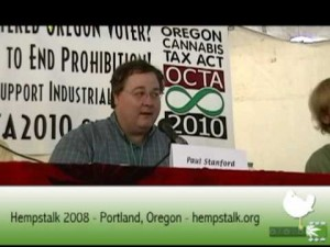 Paul Stanford speaks at 2008 Hempstalk