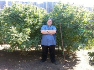 Paul Stanford in Portland THCF award winning medical marijuana garden