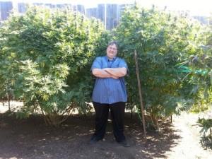 Paul Stanford in Portland THCF award winning medical marijuana garden