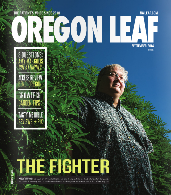 Paul Stanford on the cover of Oregon Leaf magazine